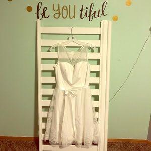 Illusion Sweetheart Neckline Dress